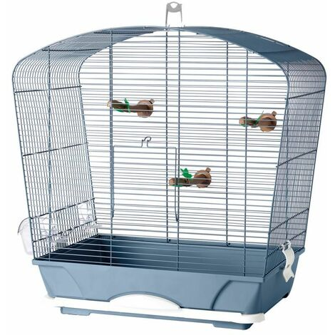 Cage petit oiseau louise 40 bleu 53x32x55cm