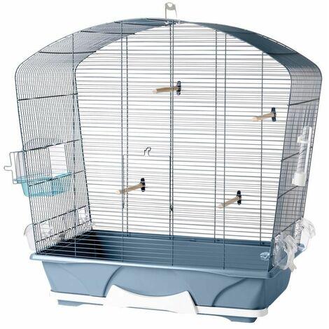 Cage petit oiseau louise 50 bleu 71x38x73,5cm