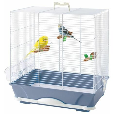 Cage petit oiseau primo 40 bleu 46x32x48cm