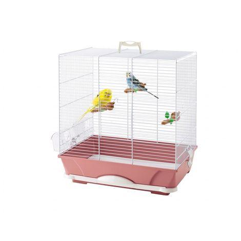 Cage petit oiseau primo 40 rose 46x32x48cm