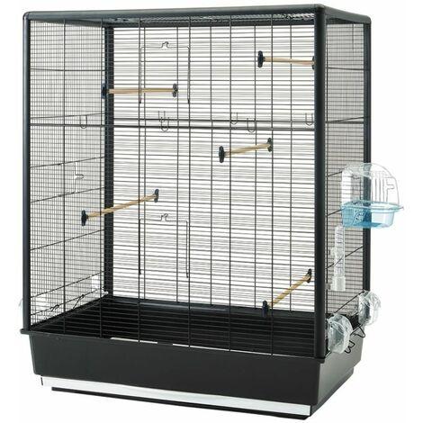 Cage petit oiseau Primo 60 noir-noir 80x50x115cm
