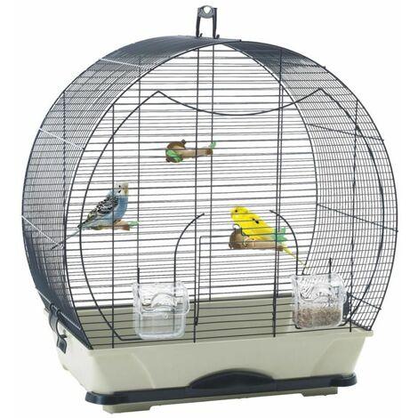 Cage petit oiseau S Evelyne 40 bleu 52x32,5x55cm