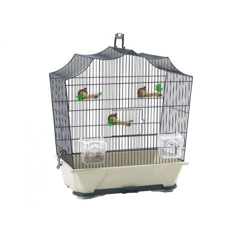 Cage petit oiseau S Sylvie 30 bleu 43x25x47cm