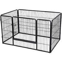 Cage Pliant pour Chien en Métal avec Porte Et Plateau Parc pour Petit animal