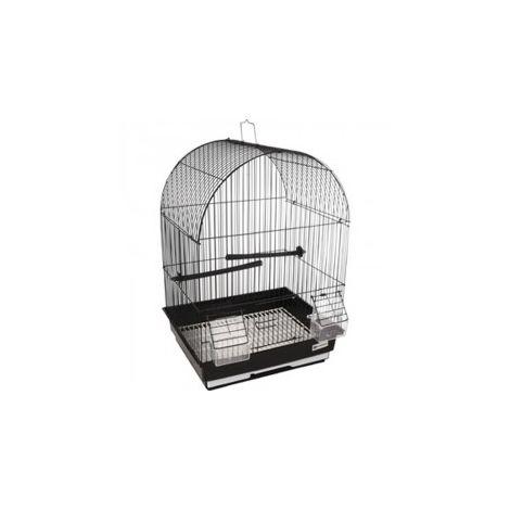 Cage pour canaris AlOR 2 noir. 34.5 x 28 x 48.5 cm. pour oiseaux.
