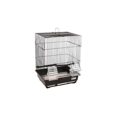 Cage pour canaris Dolak 1 noir. 29.5 x 22 x 38 cm. pour oiseaux.