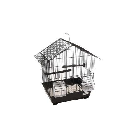 Cage pour canaris, Lombok, couleur noir, taille 36.5 cm par 25 cm et 38 cm, pour oiseaux