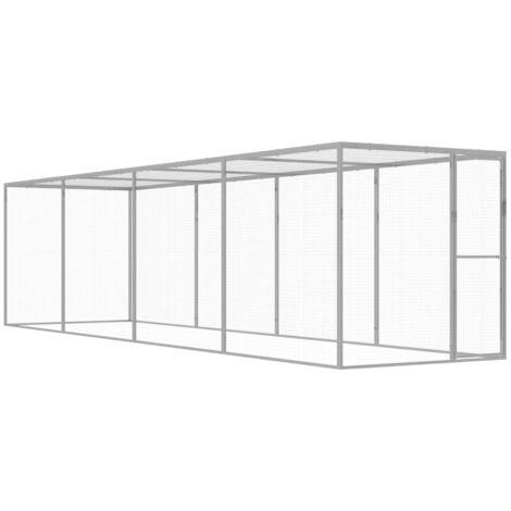 Cage pour chat 6x1,5x1,5 m Acier galvanisé