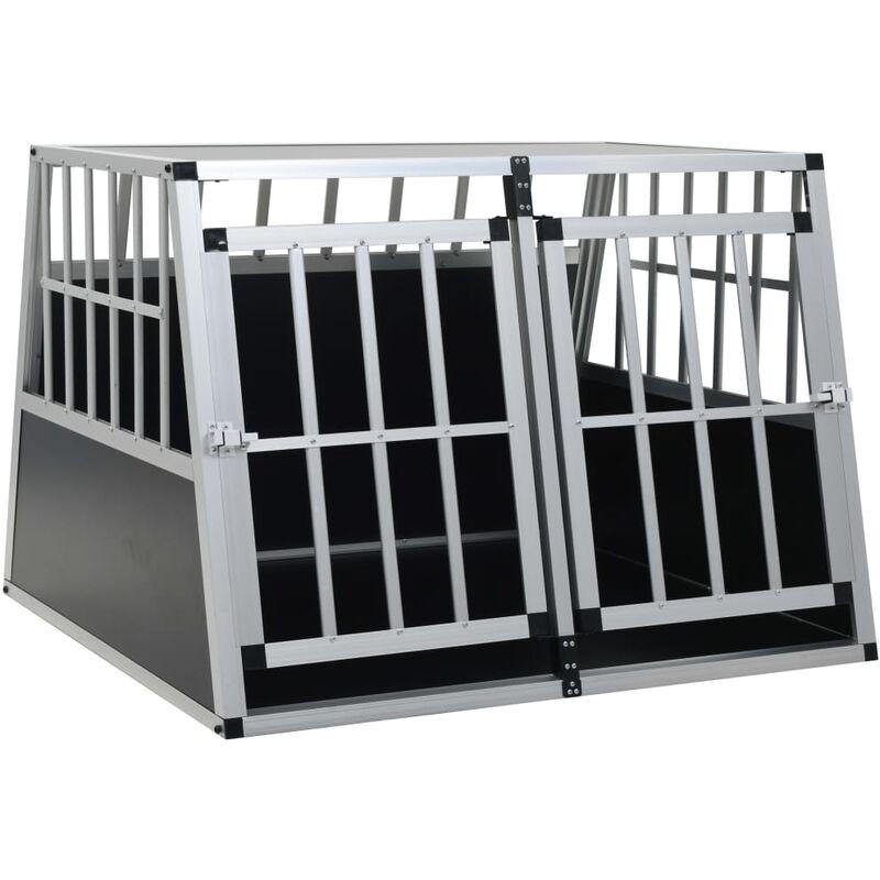 Cage pour chien a double porte 94 x 88 x 69 cm