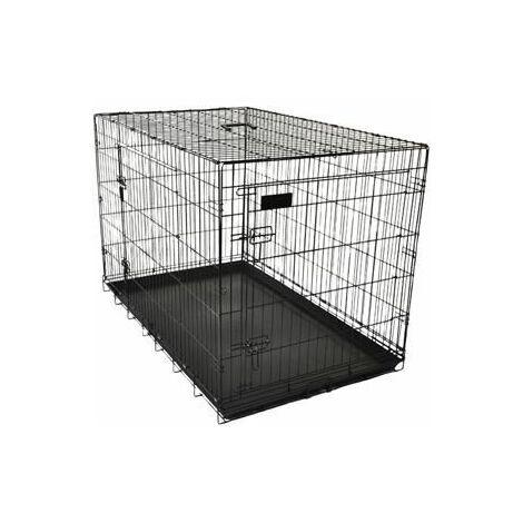 Cage pour chien ebo noir XL 109x70x77cm
