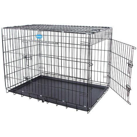 Cage pour chien pliable et transportable noir taille XXL 122 x 76 x 81 cm