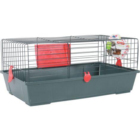 Cage pour lapins et cochons d'Inde Classic 80 - Rouge cerise