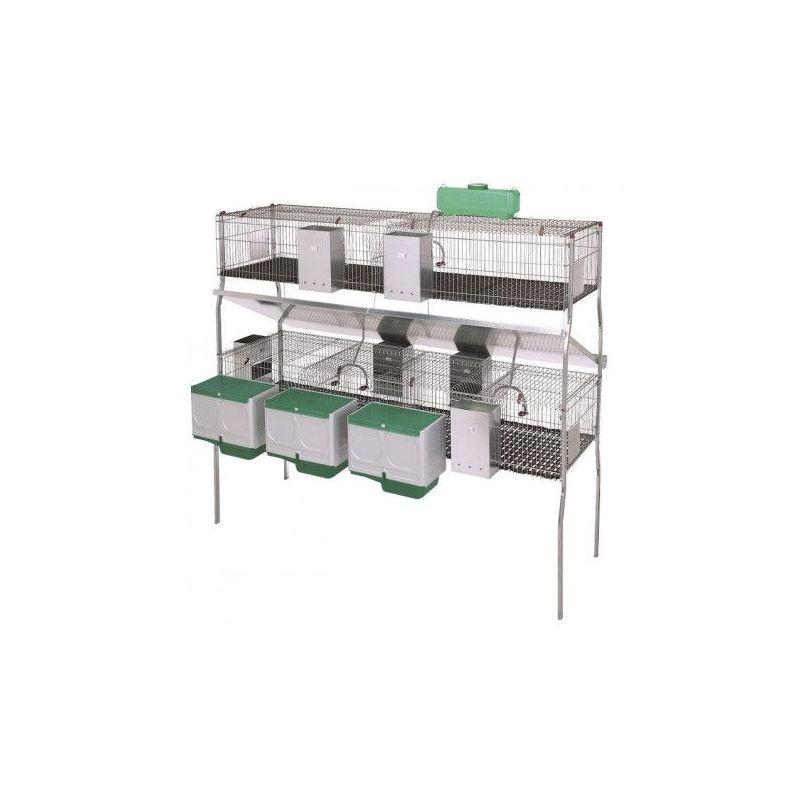 Cage pour lapins GAMMA 10 (2 niveaux)