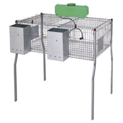 Cage pour lapins GAMMA 2 -plancher metal