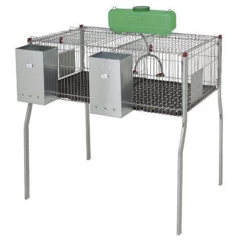 Cage pour lapins GAMMA 2 - plancher plastique