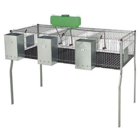 Cage pour lapins GAMMA 3 - plancher plastique