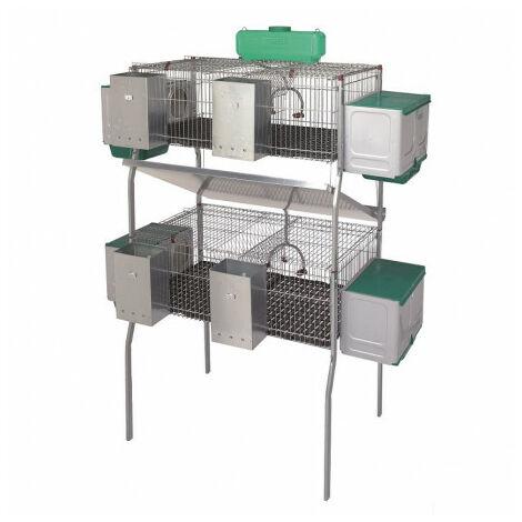 Cage pour lapins GAMMA 7-1 (2 niveaux)