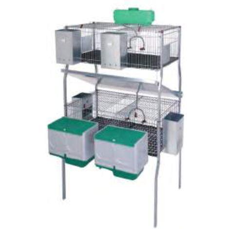 Cage pour lapins GAMMA 7 (2 niveaux)