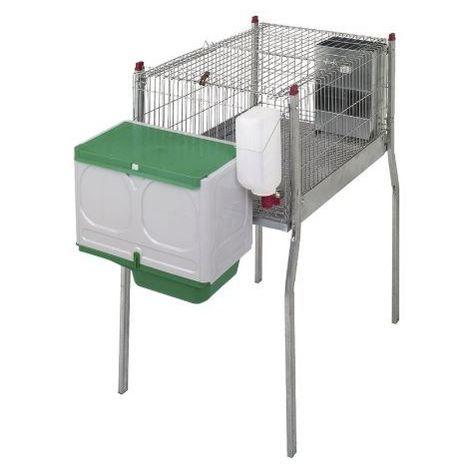 Cage pour lapins MARSEILLE 2-avec pieds