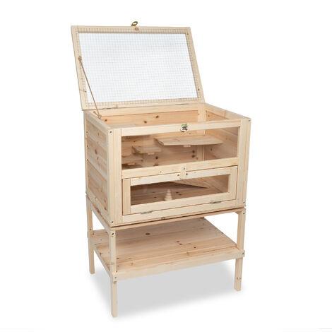 Cage pour petits animaux SAMSON de bois, dimensions: 60x40x80 cm (L/P/H)