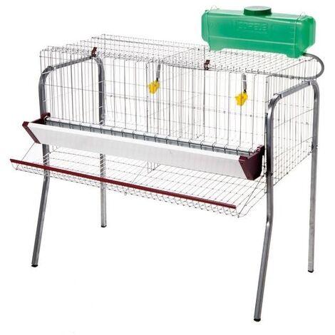 Cage pour poule pondeuses 2 compartiments