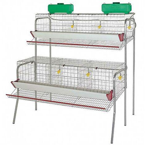 Cage pour poule pondeuses 6 compartiments