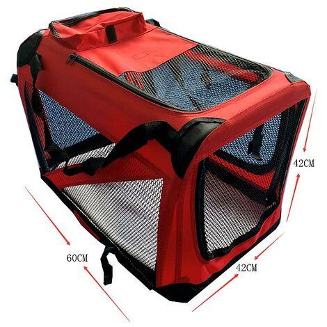 Cage Sac de transport pour chiens chats animaux pliants chiots moyen