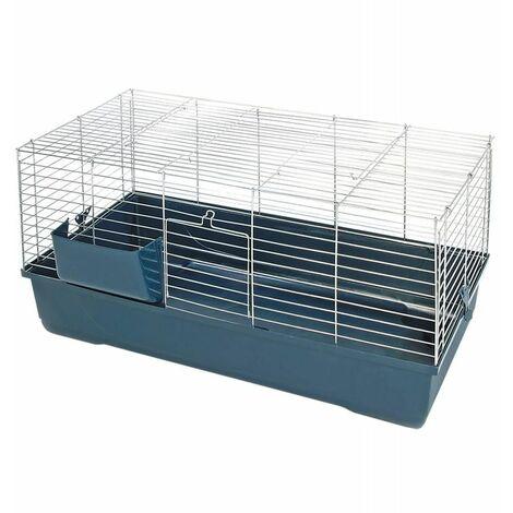 Cage sonny 80 chrome/gris foncé 80x45x42cm
