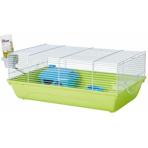 Cage souris budget stuart blanc\vert46,5x29,5x19cm