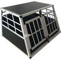 Cage Transport Chien Double Aluminium Large