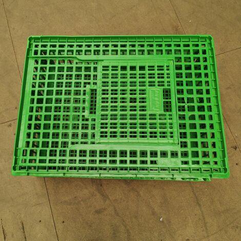 Cage Transport Poules 77x57x27cm 1 Porte Verte