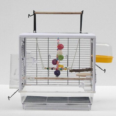Cage Volière pour Perroquets Oiseaux 47*35*47.5-61cm Acrylic Board Transparent