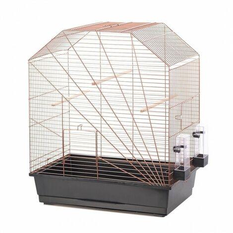 Cage Volière Voliera Pour Les Oiseaux 54x34x64.5cm