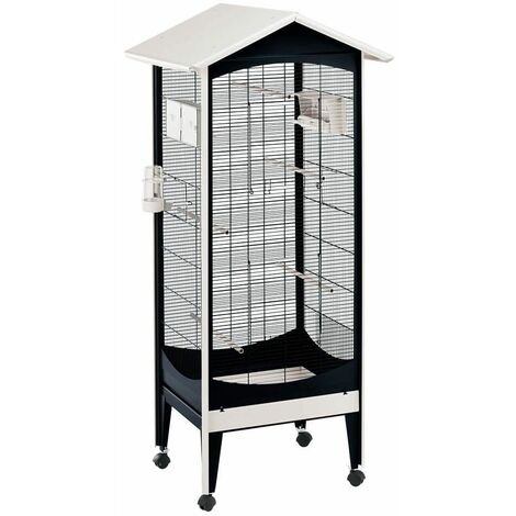 Cage Volière Voliera Pour Les Oiseaux 60,5 x 73,5 x h 160 cm