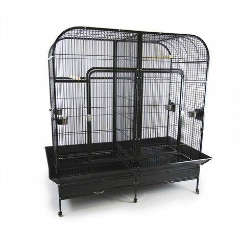 Cage Volière Voliera Pour Les Oiseaux DOUBLE L 180 x l 100 x H 178 cm