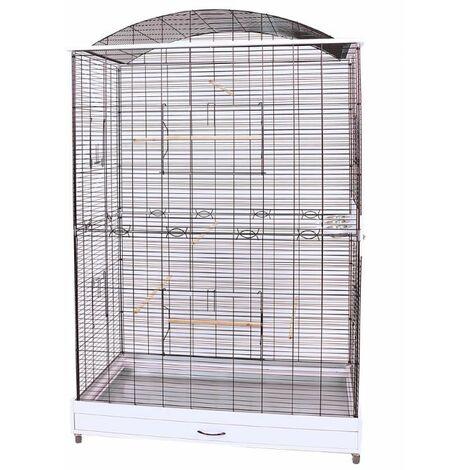 Cage Volière Voliera Pour Les Oiseaux L 118 x B 75 x H 175 cm