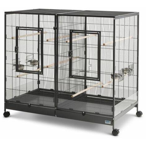 Cage Volière Voliera Pour Les Oiseaux L 120 x B 65 x H 107 cm