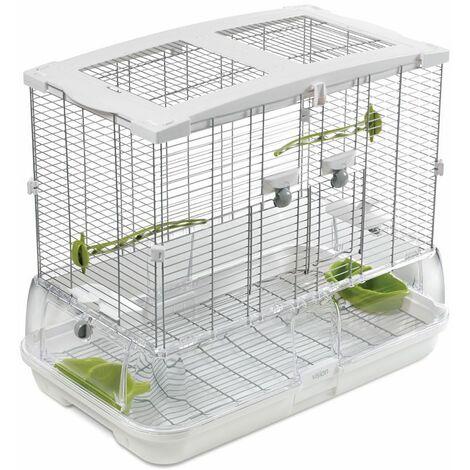 Cage Volière Voliera Pour Les Oiseaux L 61 x B 38 x H 53 cm