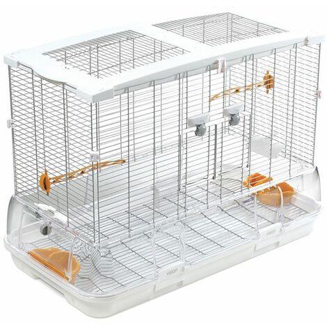 Cage Volière Voliera Pour Les Oiseaux L 75 x B 38 x H 55 cm