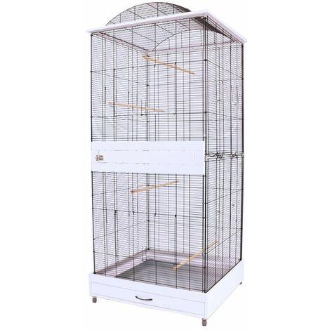 Cage Volière Voliera Pour Les Oiseaux L 78 x B 75 x H 175 cm