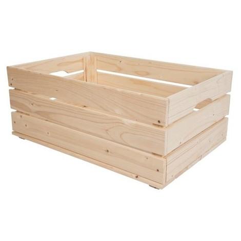 Cagette en bois - 59 x 39 x 24 cm - VELLbb50504