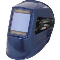 Cagoule de soudage bleue grand écran 100x93mm -S05784
