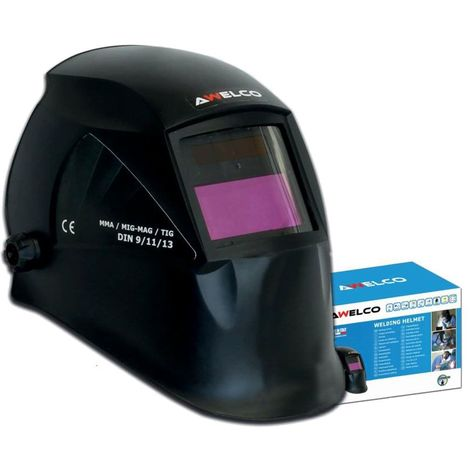 Cagoule de soudure Automatique Awelco HELMET 1000 Teinte reglable 9 à 13 Alimentation solaire Masque de soudure automatique