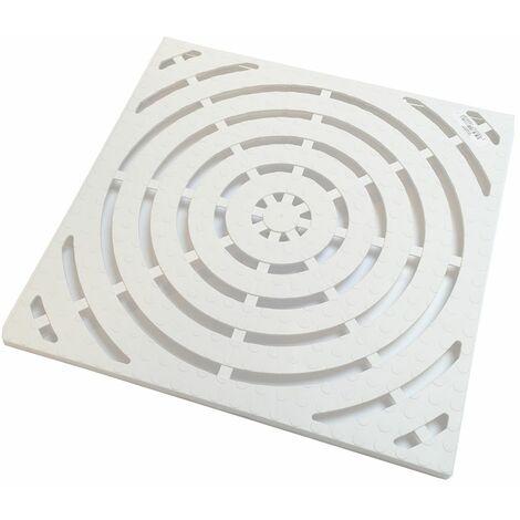 Caillebotis blanc pour salle de bains et douche Allibert 58,5 x 58,5 cm