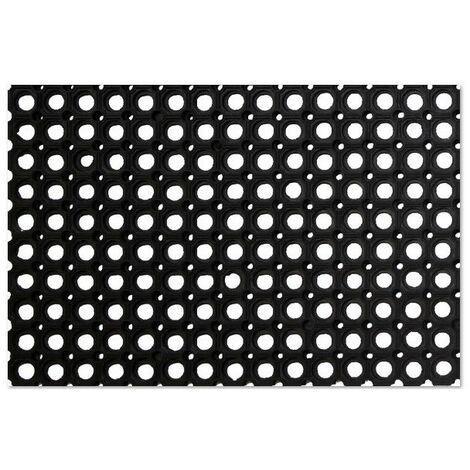 Caillebotis caoutchouc Noir 1.5 cm