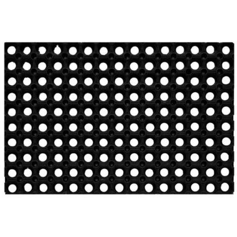Caillebotis caoutchouc noir, dimenisons 100 x 150 cm, épaisseur 22 mm