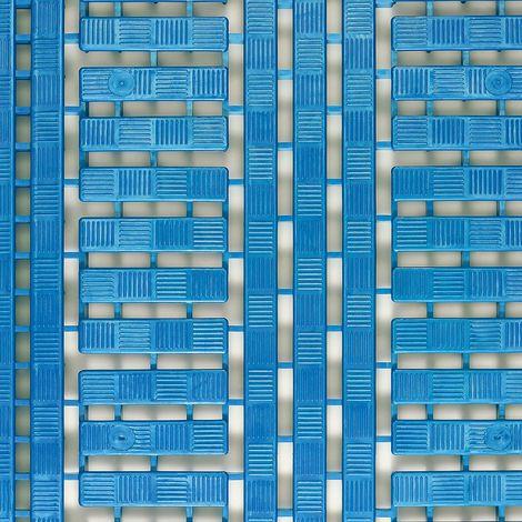 Caillebotis en polyéthylène - L x l 1200 x 600 mm, lot de 5 - bleu