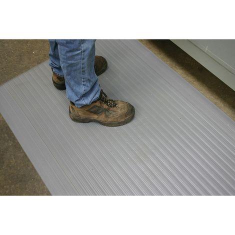 Tapis anti-fatigue en PVC - L x l 900 x 600 mm, lot de 3 - gris - Coloris: Gris