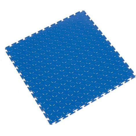 Caillebotis en PVC, lot de 8 - à surface structurée en pastilles - bleu