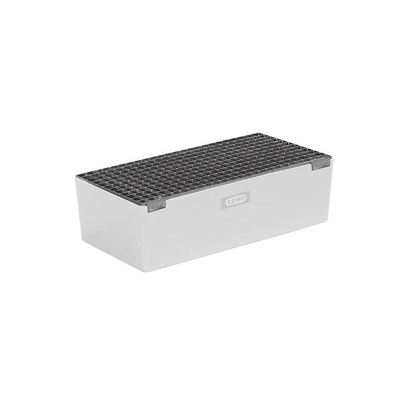 Caillebotis galvanisé pour cuve - pour cuve de rétention en polyester armé de fibre de verre - h x l x p 30 x 420 x 800